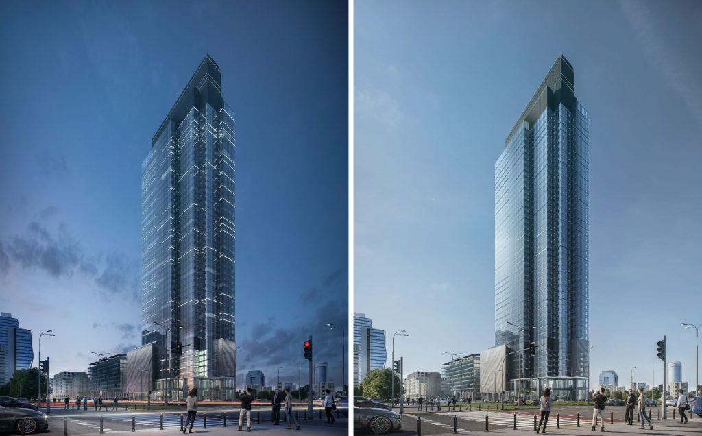 TENANTS AND VISITORS WILL BE ABLE TO ADMIRE THE PANORAMIC VIEW OF WARSAW FROM THE RESTAURANT AT THE TOP FLOOR.