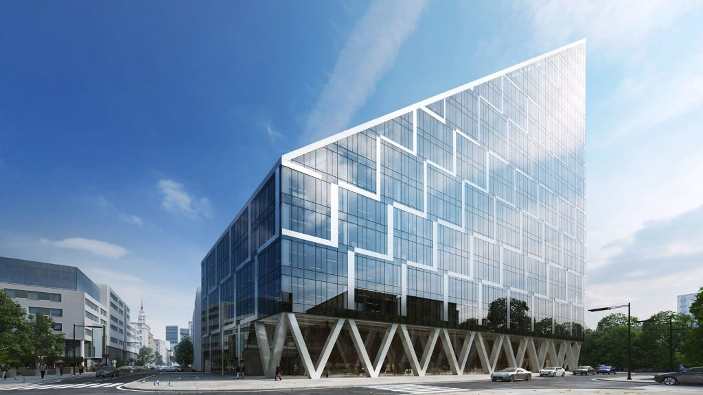 THE BUILDING WAS DESIGNED WITH THE EXISTING ARCHITECTURE OF THIS PART OF WARSAW IN MIND