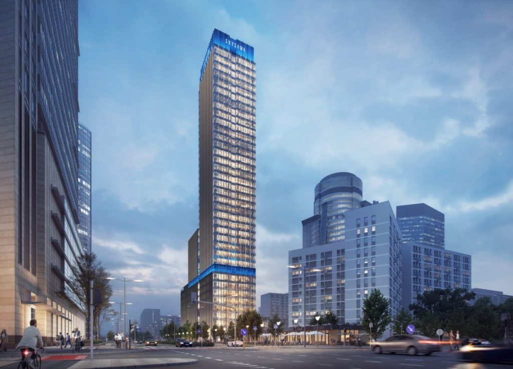 SKY SAWA WILL CONSIST OF TWO PARTS: A BUILDING OF 9 FLOORS AND BUILDING B THAT WILL REACH 155 METERS.